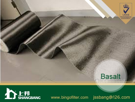 Basalt filter cloth